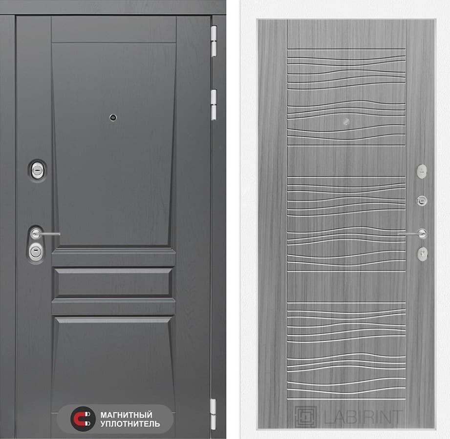 Входная металлическая дверь Лабиринт Платинум 6 (Альберо Грей / Сандал серый)