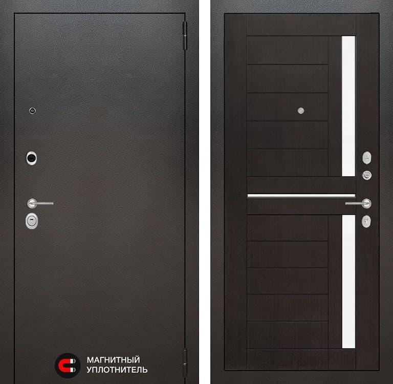 Входная металлическая дверь Лабиринт Сильвер 2 (Антик темное серебро / Венге)