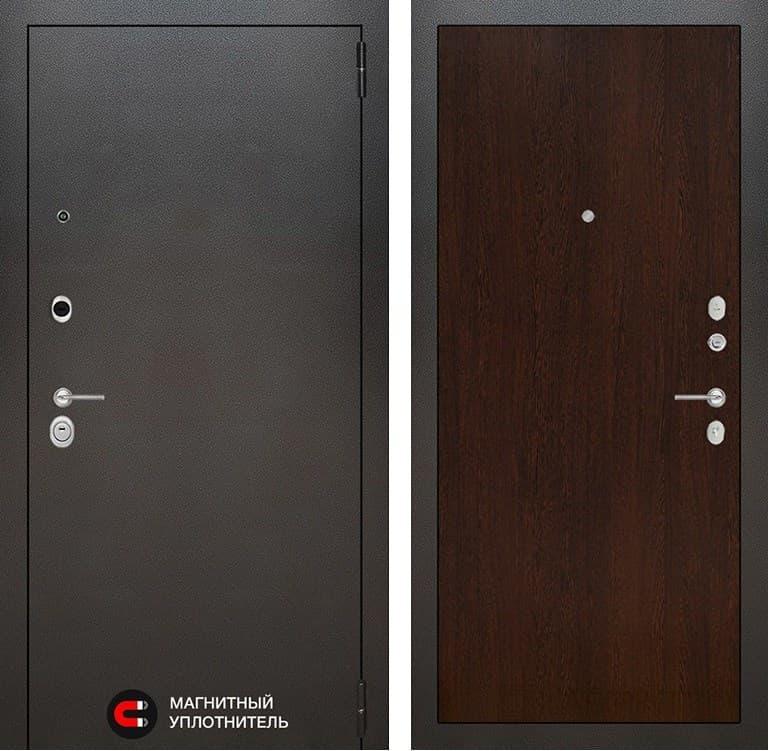 Входная металлическая дверь Лабиринт Сильвер 5 (Антик темное серебро / Венге)