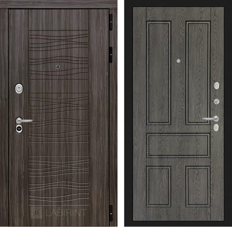 Входная металлическая дверь Лабиринт Сканди 10 (Дарк Грей / Дуб филадельфия графит)