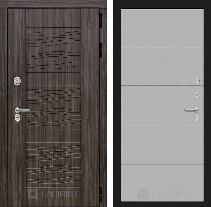 Входная металлическая дверь Лабиринт Сканди 13 (Дарк Грей / Грей софт)