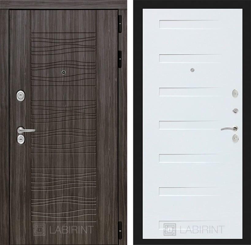 Входная металлическая дверь Лабиринт Сканди 14 (Дарк Грей / Дуб кантри белый)