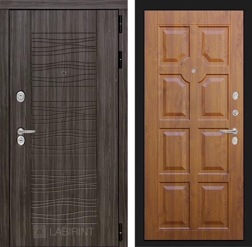 Входная металлическая дверь Лабиринт Сканди 17 (Дарк Грей / Золотой дуб)