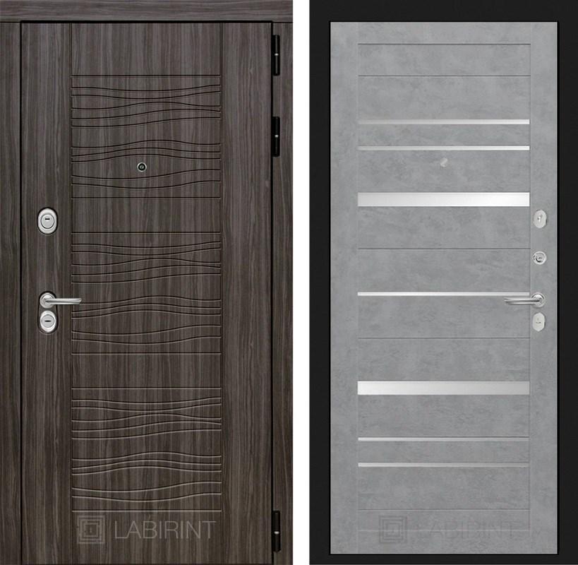 Входная металлическая дверь Лабиринт Сканди 20 (Дарк Грей / Бетон светлый)