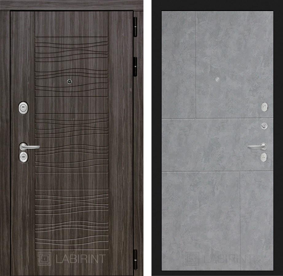 Входная металлическая дверь Лабиринт Сканди 21 (Дарк Грей / Бетон светлый)