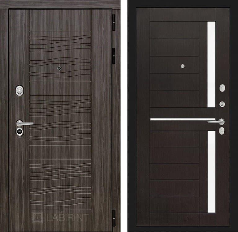 Входная металлическая дверь Лабиринт Сканди 2 (Дарк Грей / Венге)