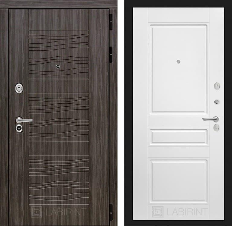 Входная металлическая дверь Лабиринт Сканди 3 (Дарк Грей / Белый софт)