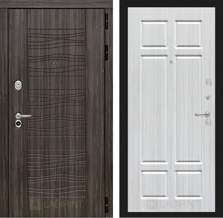 Входная металлическая дверь Лабиринт Сканди 8 (Дарк Грей / Кристалл вуд)