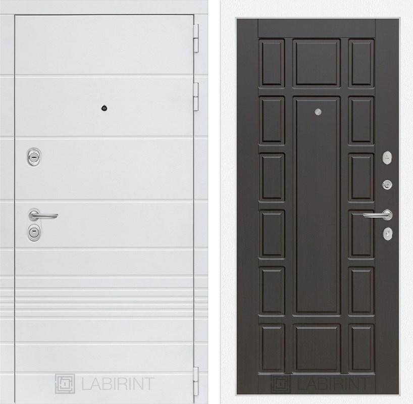 Входная металлическая дверь Лабиринт Трендо 12 (Белый камень / Венге)
