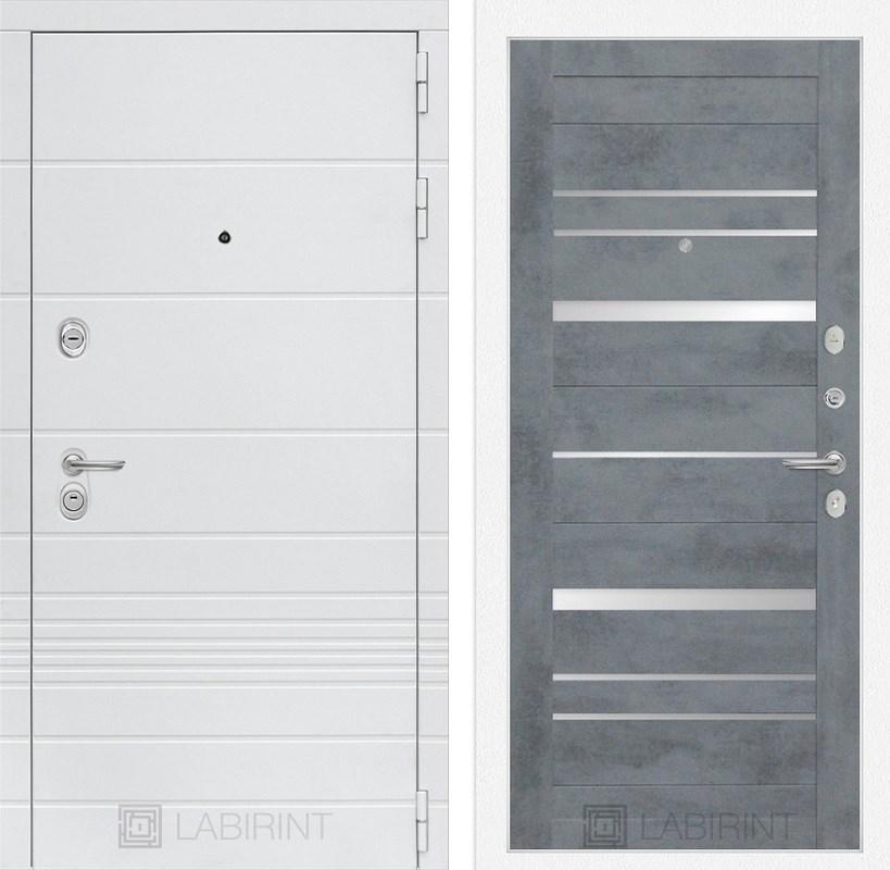 Входная металлическая дверь Лабиринт Трендо 20 (Белый камень / Бетон темный)