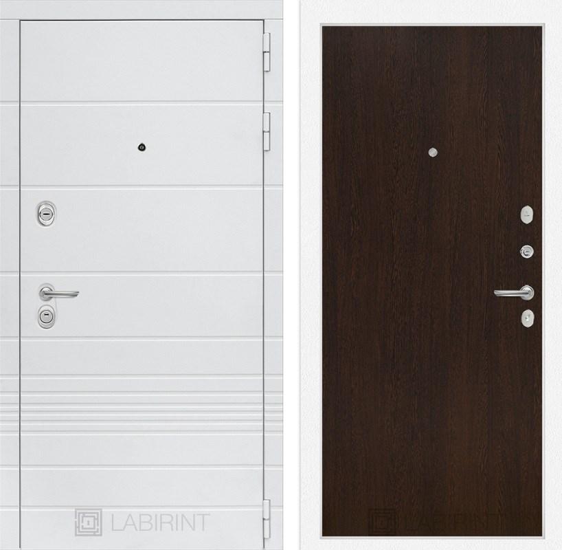 Входная металлическая дверь Лабиринт Трендо 5 (Белый камень / Венге)