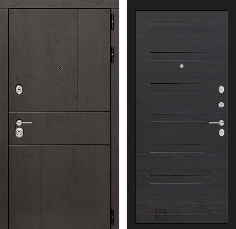 Входная металлическая дверь Лабиринт Урбан 14 (Дуб горький шоколад / ЭкоВенге)