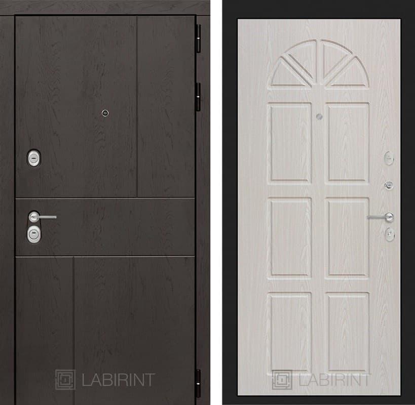 Входная металлическая дверь Лабиринт Урбан 15 (Дуб горький шоколад / Алмон 25)