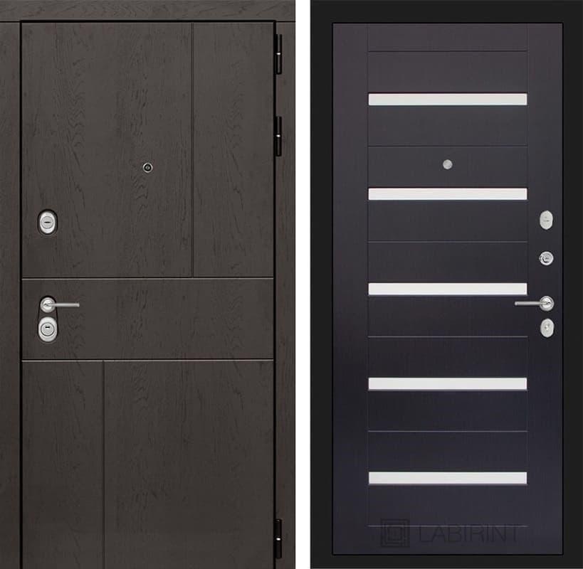 Входная металлическая дверь Лабиринт Урбан 1 (Дуб горький шоколад / Венге)