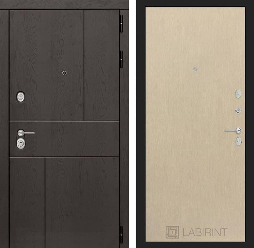 Входная металлическая дверь Лабиринт Урбан 5 (Дуб горький шоколад / Венге светлый)