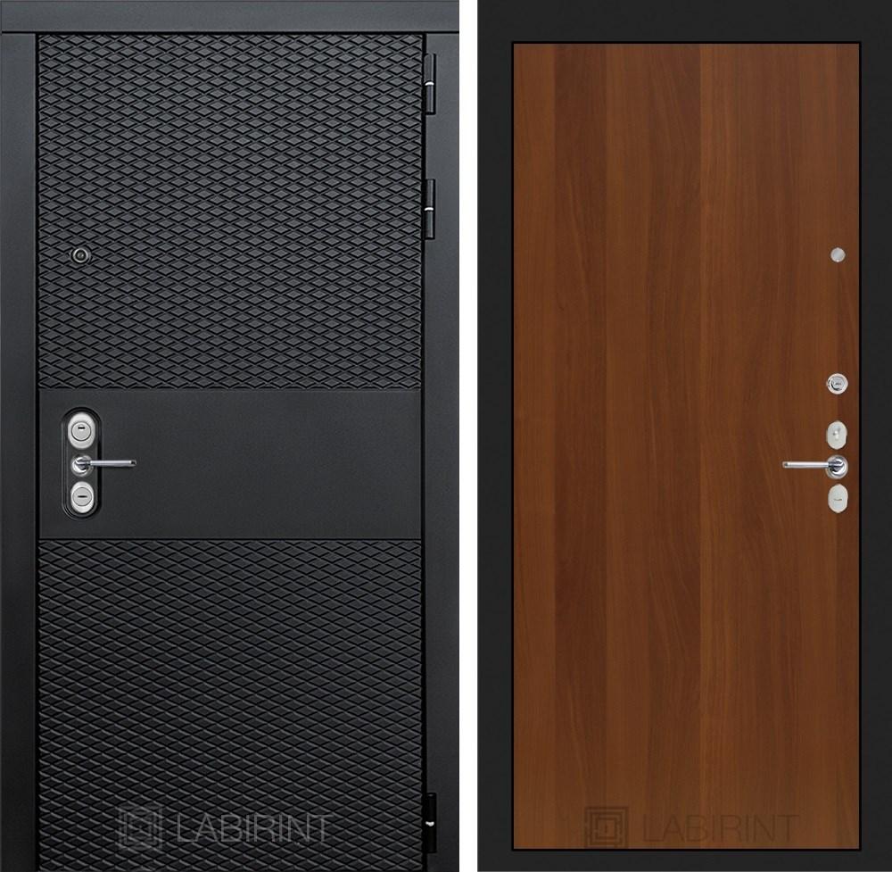 Входная металлическая дверь Лабиринт Black 5 (Чёрный кварц / Итальянский орех)