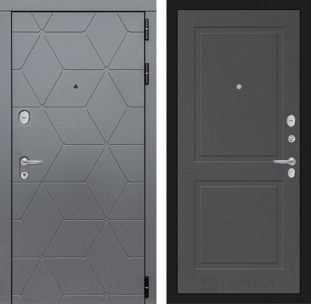 Входная металлическая дверь Лабиринт Cosmo 11 (Графит / Графит софт)