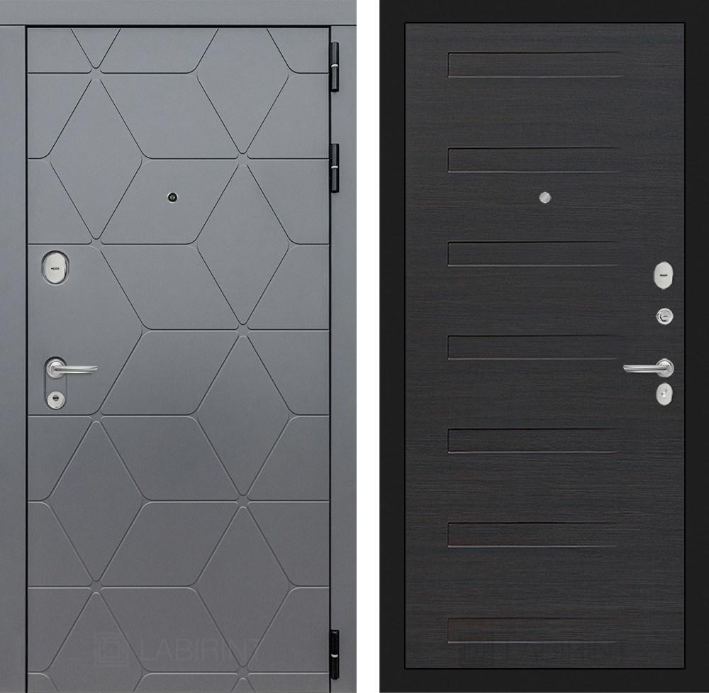 Входная металлическая дверь Лабиринт Cosmo 14 (Графит / ЭкоВенге)