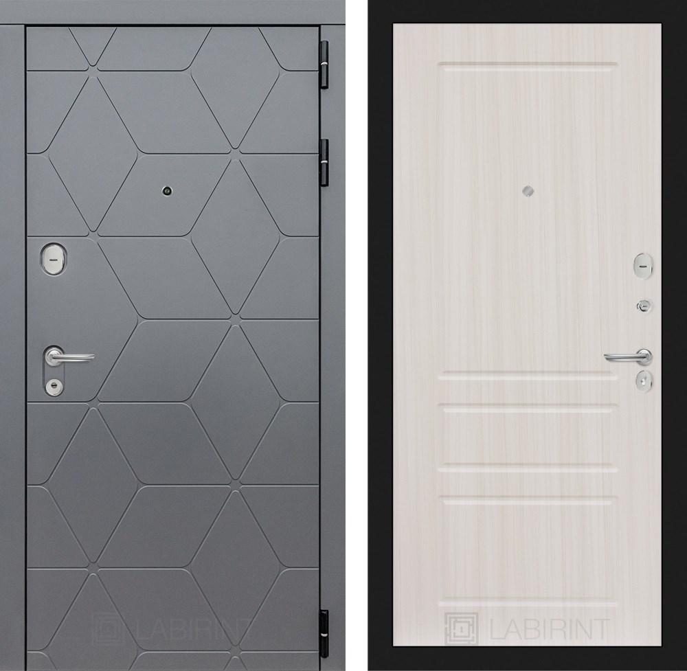 Входная металлическая дверь Лабиринт Cosmo 3 (Графит / Сандал белый)