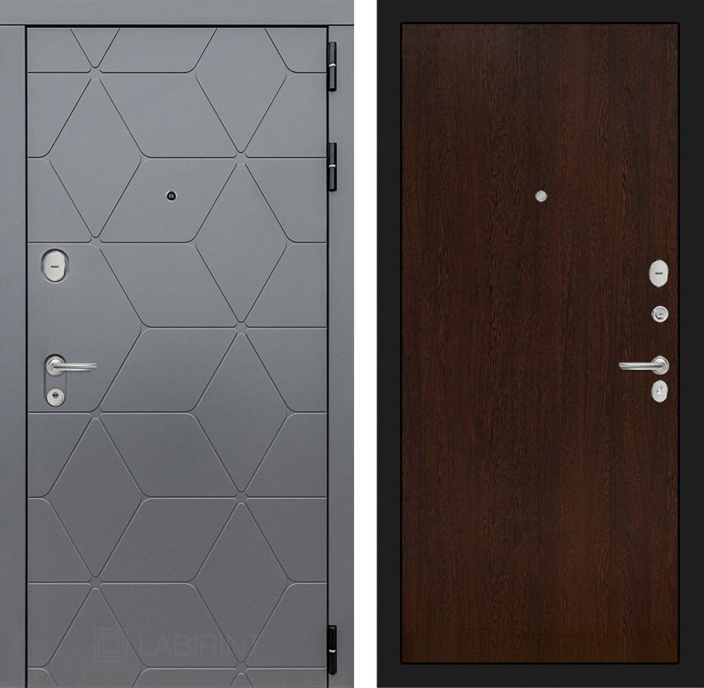 Входная металлическая дверь Лабиринт Cosmo 5 (Графит / Венге)