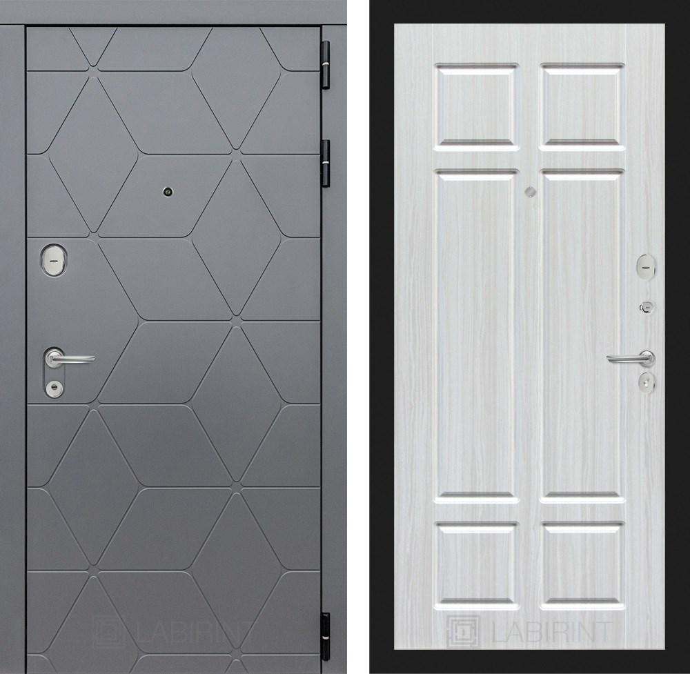 Входная металлическая дверь Лабиринт Cosmo 8 (Графит / Кристалл вуд)