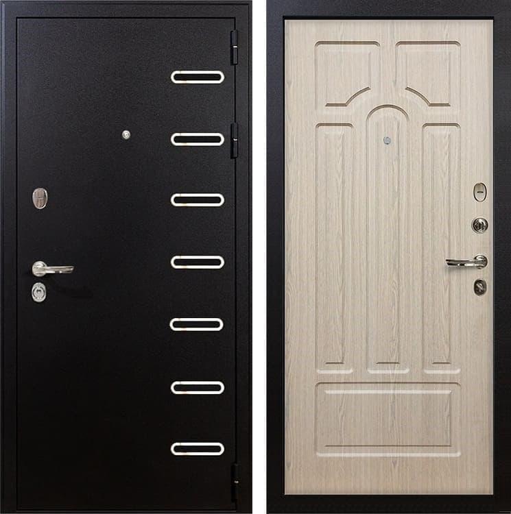 Входная металлическая дверь Лекс Витязь Беленый дуб (панель №25)