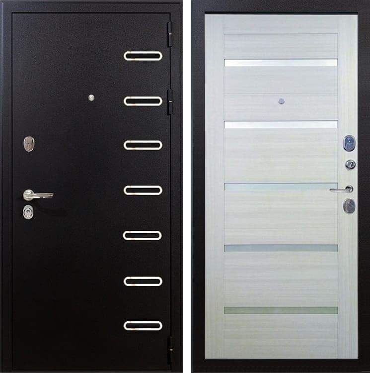 Входная металлическая дверь Лекс Витязь Клеопатра-2 Дуб беленый (панель №58)