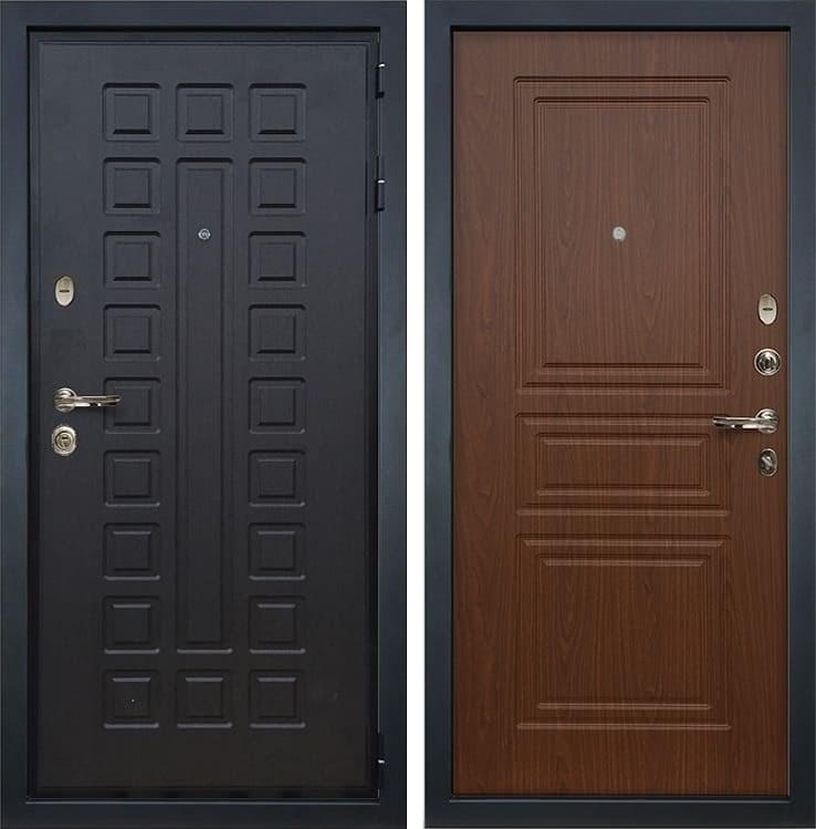 Входная металлическая дверь Лекс Гладиатор 3К Береза мореная (панель №19)