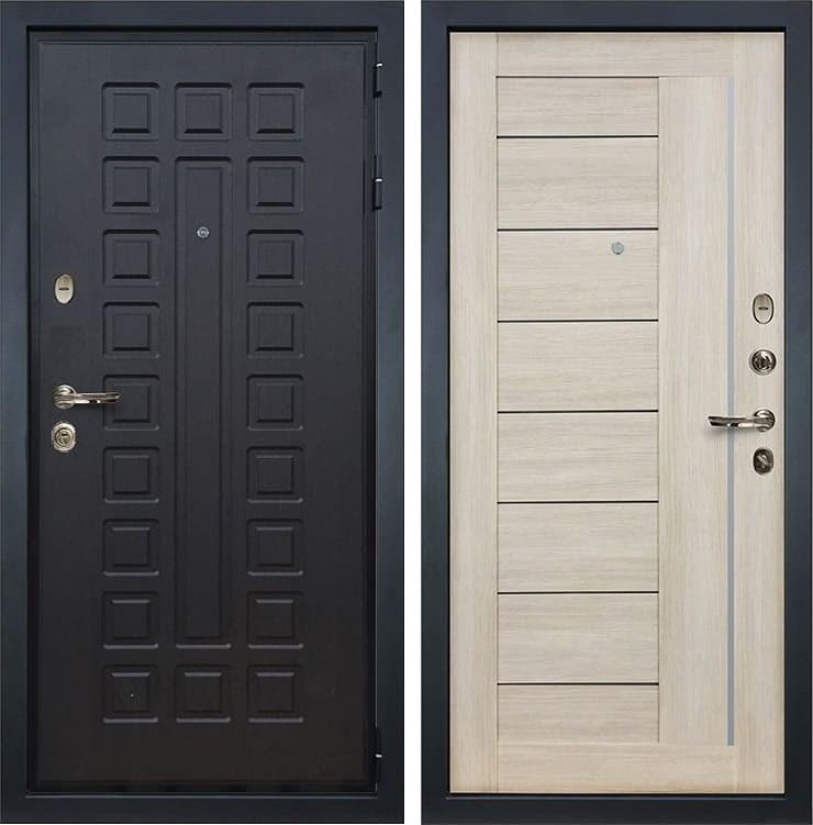 Входная металлическая дверь Лекс Гладиатор 3К Верджиния Ясень кремовый (панель №40)