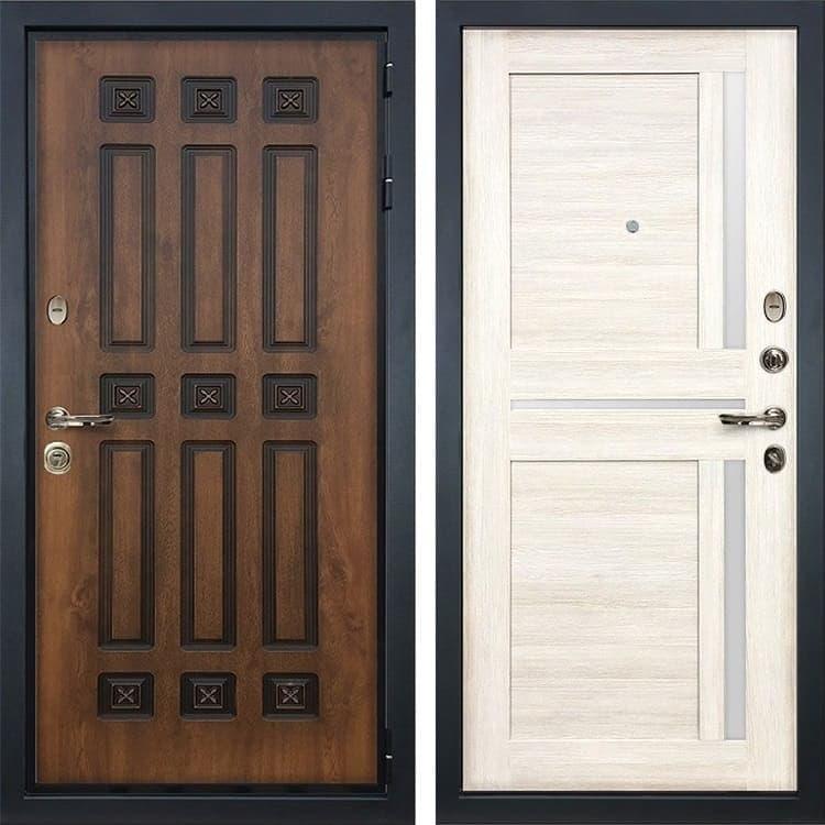 Входная металлическая дверь Лекс Гладиатор 3К Винорит Баджио Белёный дуб (панель №47)