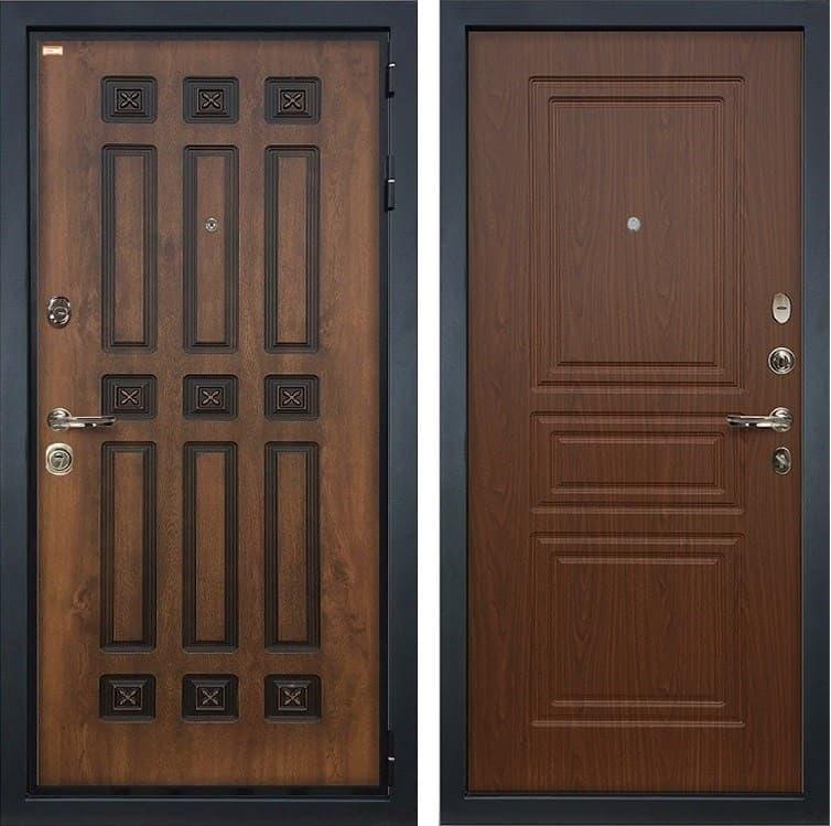 Входная металлическая дверь Лекс Гладиатор 3К Винорит Берёза мореная (панель №19)