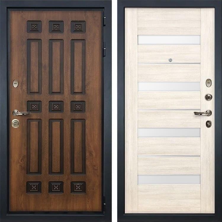 Входная металлическая дверь Лекс Гладиатор 3К Винорит Сицилио Белёный дуб (панель №46)