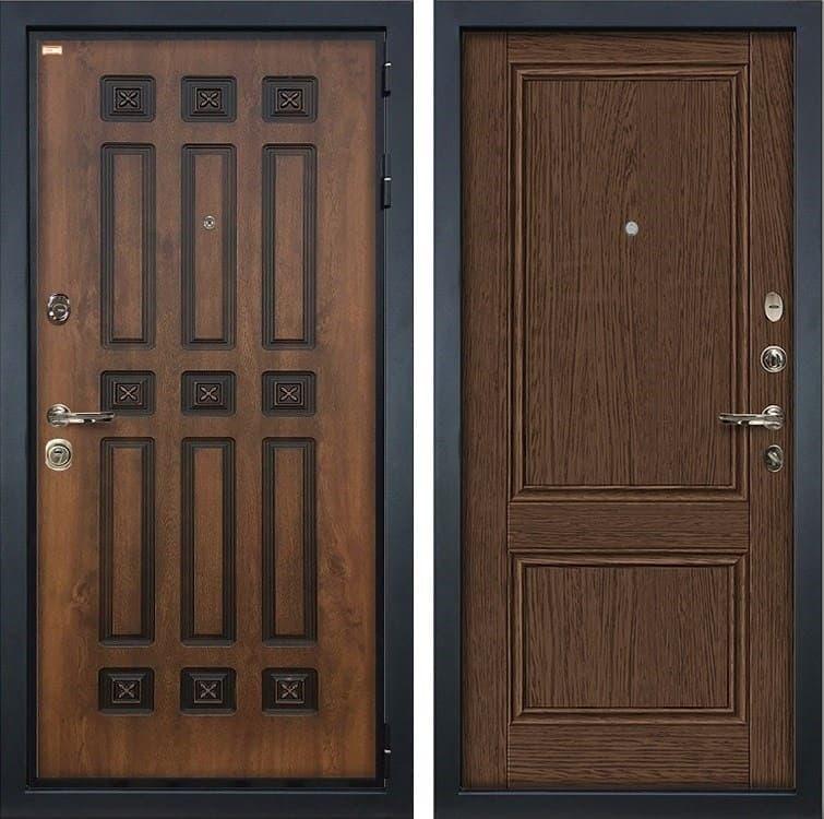 Входная металлическая дверь Лекс Гладиатор 3К Винорит Энигма-1 Орех (панель №57)