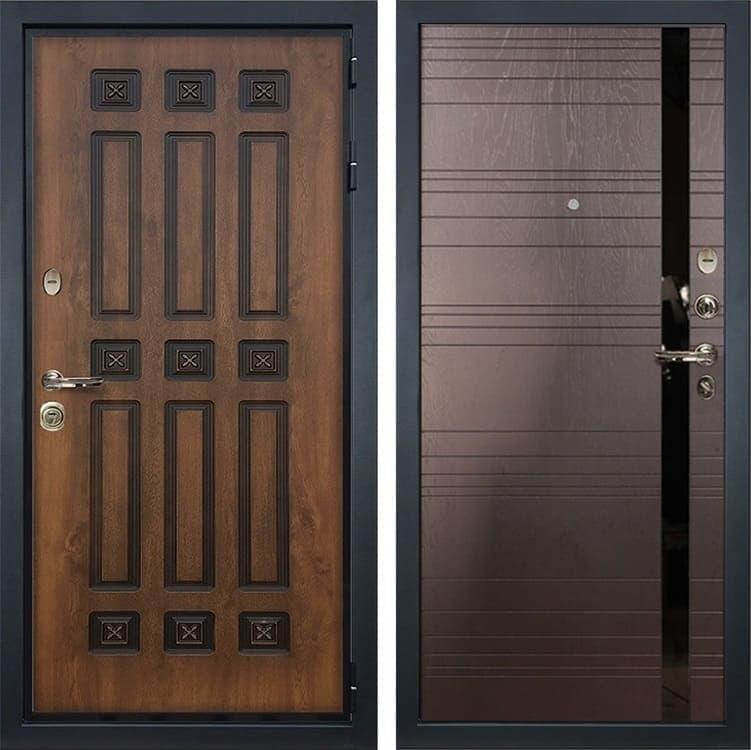 Входная металлическая дверь Лекс Гладиатор 3К Винорит Ясень шоколад (панель №31)