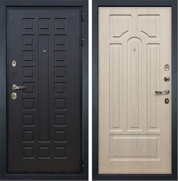 Входная металлическая дверь Лекс Гладиатор 3К Дуб беленый (панель №25)