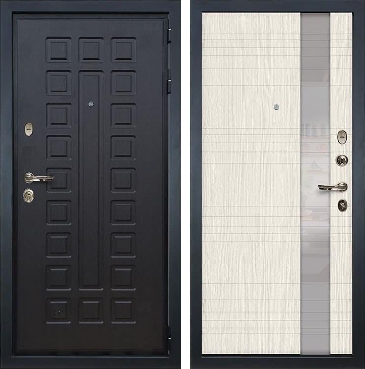 Входная металлическая дверь Лекс Гладиатор 3К Новита Дуб беленый (панель №52)