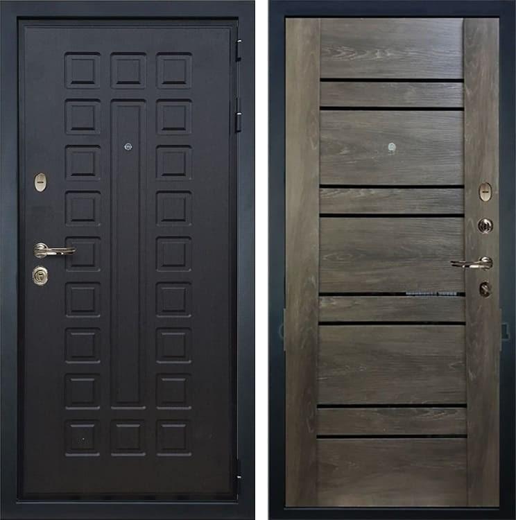 Входная металлическая дверь Лекс Гладиатор 3К Терра Графит Шале (панель №64)