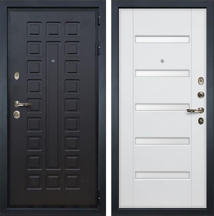 Входная металлическая дверь Лекс Гладиатор 3К Ясень белый (панель №34)