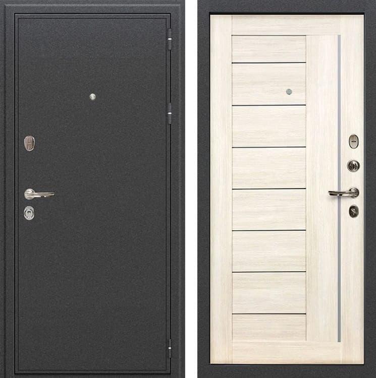Входная металлическая дверь Лекс Колизей Верджиния Дуб беленый (панель №38)