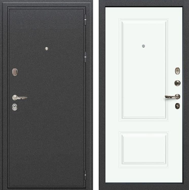 Входная металлическая дверь Лекс Колизей Вероника-1 Шпон Эмаль белая (панель №55)