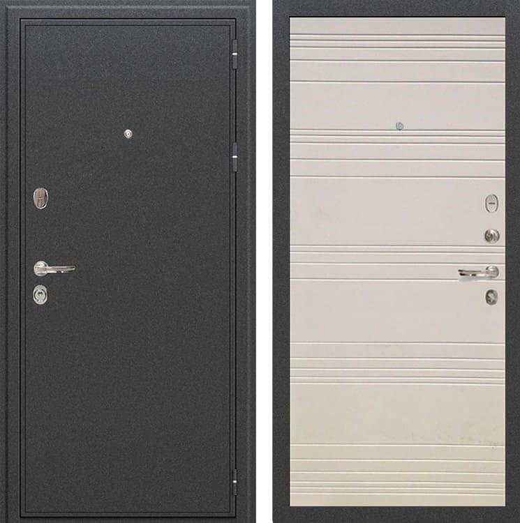 Входная металлическая дверь Лекс Колизей Дуб фактурный кремовый (панель №63)