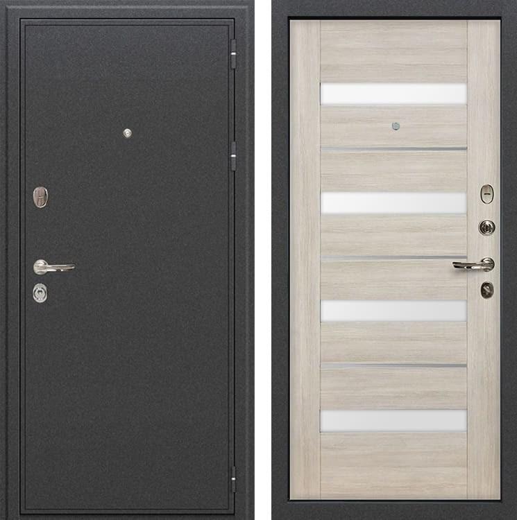 Входная металлическая дверь Лекс Колизей Сицилио Ясень кремовый (панель №48)