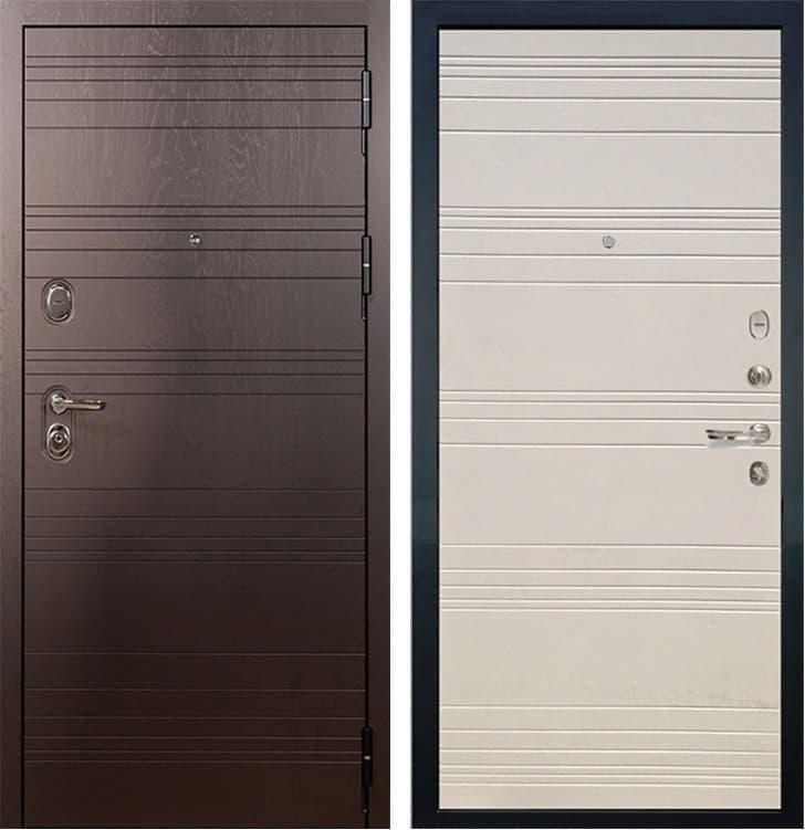 Входная металлическая дверь Лекс Легион Дуб фактурный кремовый (панель №63)