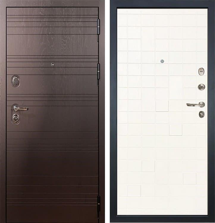 Входная металлическая дверь Лекс Легион Ясень белый (панель №56)