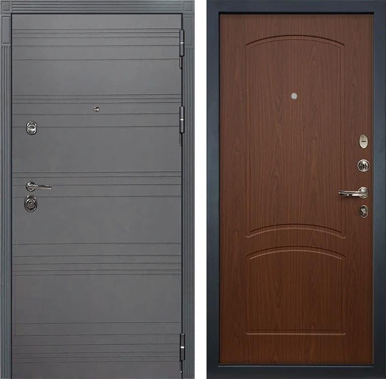 Входная металлическая дверь Лекс Сенатор 3К Софт графит (№11 Береза мореная)