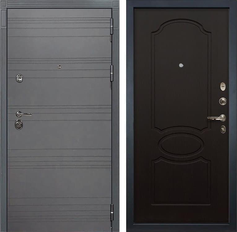 Входная металлическая дверь Лекс Сенатор 3К Софт графит (№13 Венге)