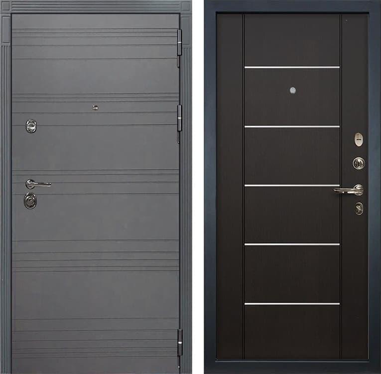 Входная металлическая дверь Лекс Сенатор 3К Софт графит (№24 Венге)