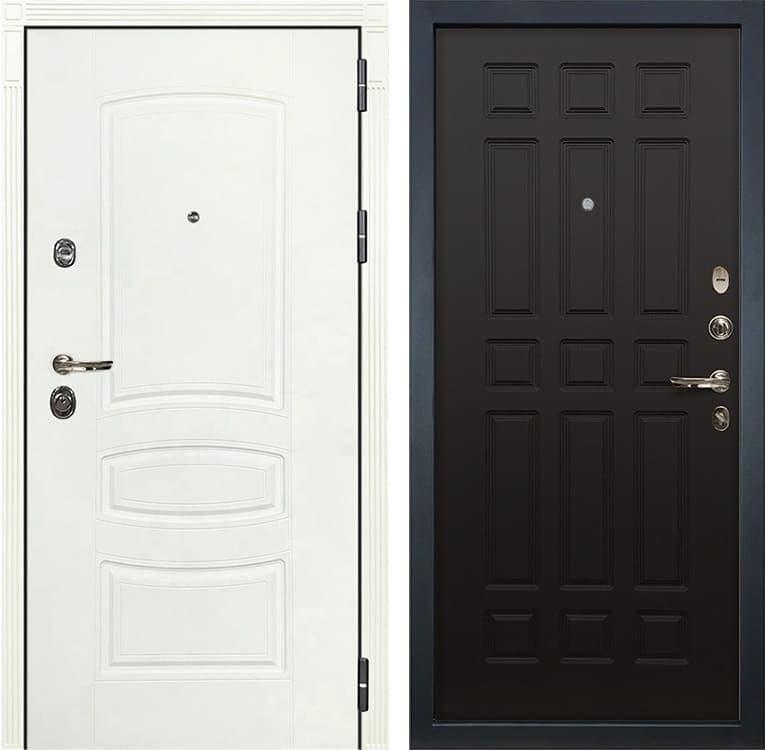 Входная металлическая дверь Лекс Сенатор 3К Шагрень белая (№29 Венге)