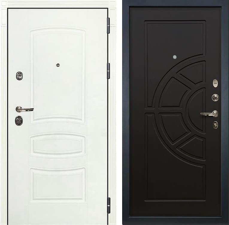 Входная металлическая дверь Лекс Сенатор 3К Шагрень белая (№43 Венге)