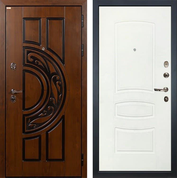 Входная металлическая дверь Лекс Спартак Cisa Белая шагрень (панель №68)
